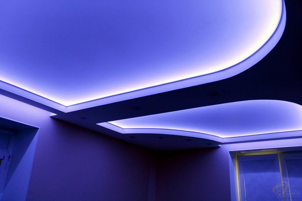 натяжные потолки с неоновой подсветкой фото несущих крупные яйца